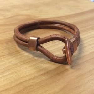 Other - Men's Genuine Leather Bracelet with Copper closure